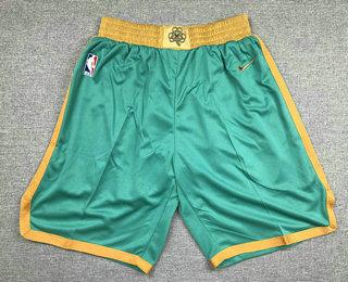 Men's Boston Celtics NEW Green Nike 2020 Swingman Stitched NBA Shorts