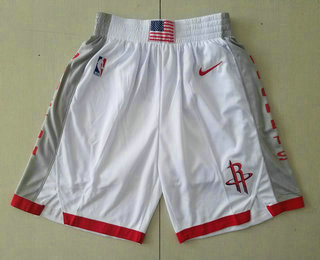 Men's Houston Rockets White 2020 Nike City Edition Swingman Shorts