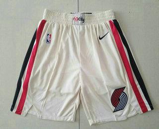 Men's Portland Trail Blazers Cream 2020 City Edition NBA Swingman Shorts