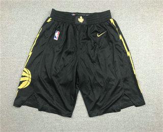 Men's Toronto Raptors Black 2020 Nike City Edition Swingman Shorts