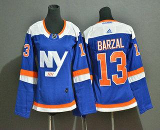 Women's New York Islanders #13 Mathew Barzal New Blue Home 2019 Hockey Adidas Stitched NHL Jersey