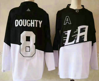 Men's Los Angeles Kings #8 Drew Doughty Black 2020 Stadium Series Adidas Stitched NHL Jersey