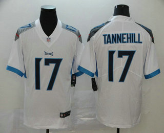 Men's Tennessee Titans #17 Ryan Tannehill Nike White New 2018 Vapor Untouchable Limited Jersey