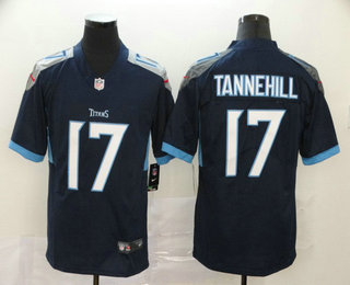 Men's Tennessee Titans #17 Ryan Tannehill Nike Navy Blue New 2018 Vapor Untouchable Limited Jersey