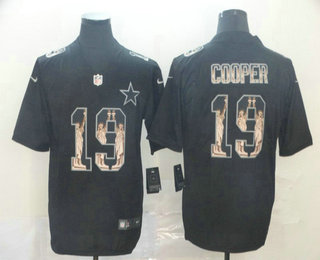 Men's Dallas Cowboys #19 Amari Cooper Black Statue Of Liberty Stitched NFL Nike Limited Jersey