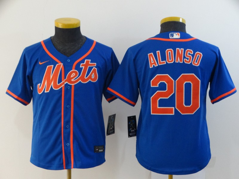 Youth New York Mets #20 Pete Alonso Blue Stitched MLB Cool Base Nike Jersey