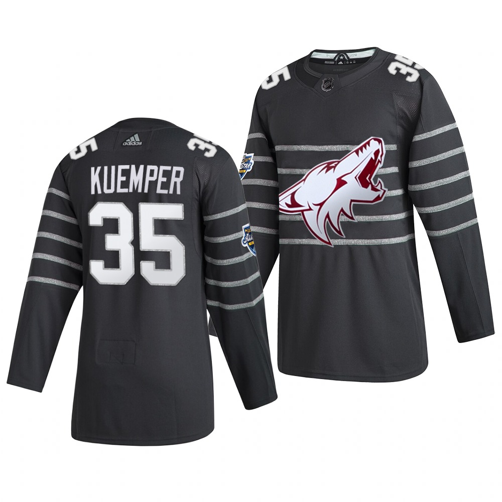 Men's Arizona Coyotes #35 Darcy Kuemper Gray 2020 NHL All-Star Game Adidas Jersey