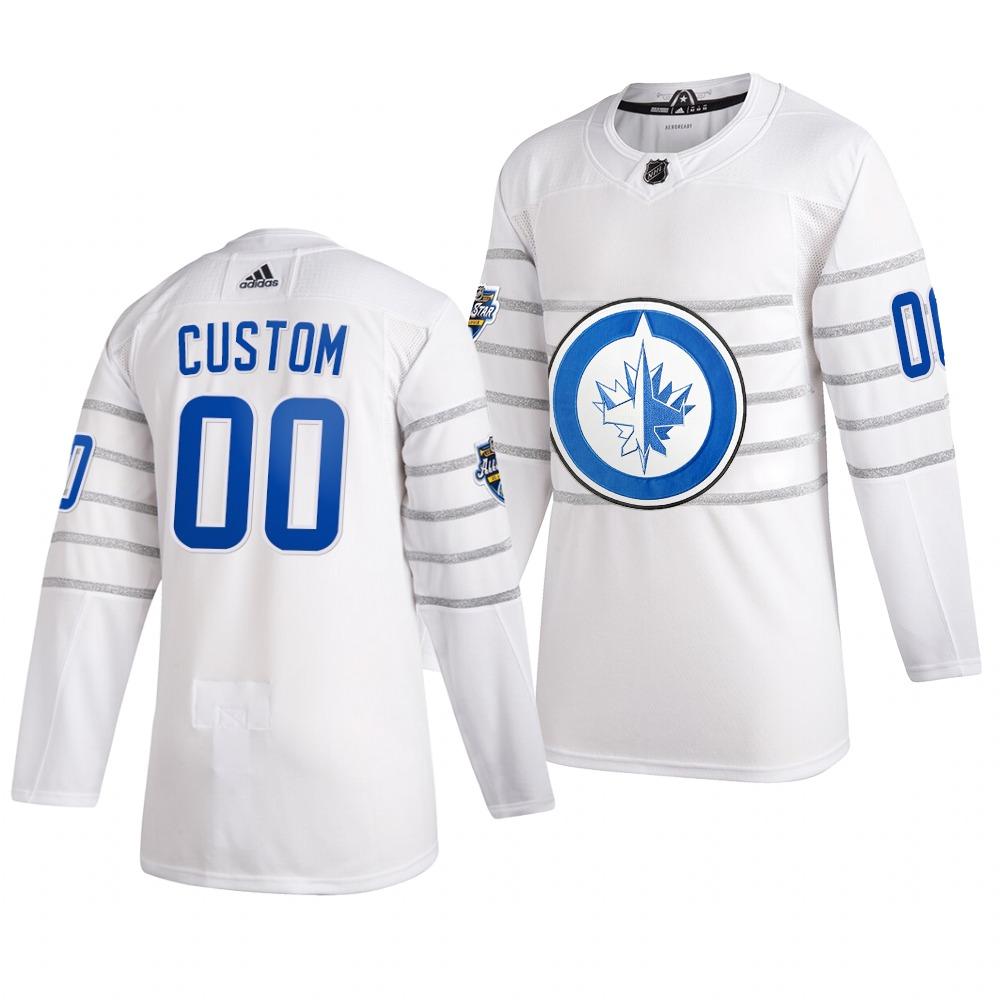 Men's 2020 NHL All-Star Game Winnipeg Jets Custom Authentic adidas White Jersey