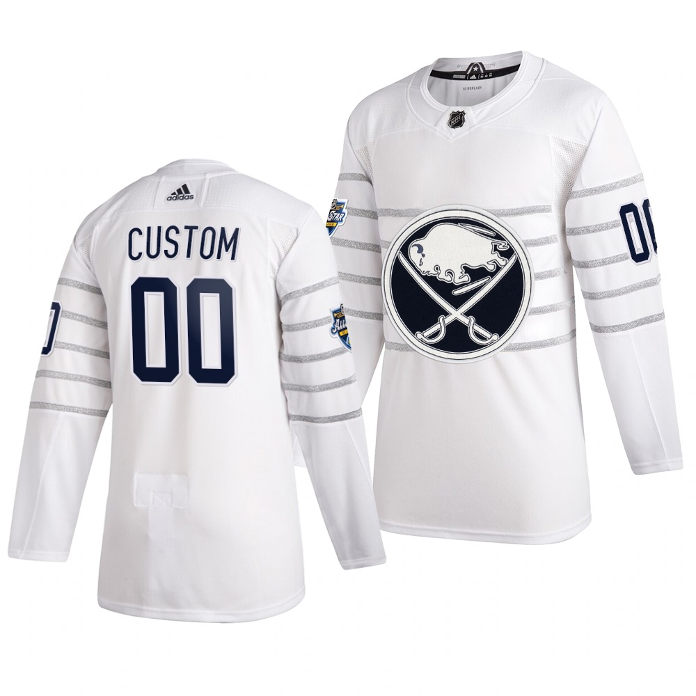 Men's 2020 NHL All-Star Game Buffalo Sabres Custom Authentic adidas White Jersey