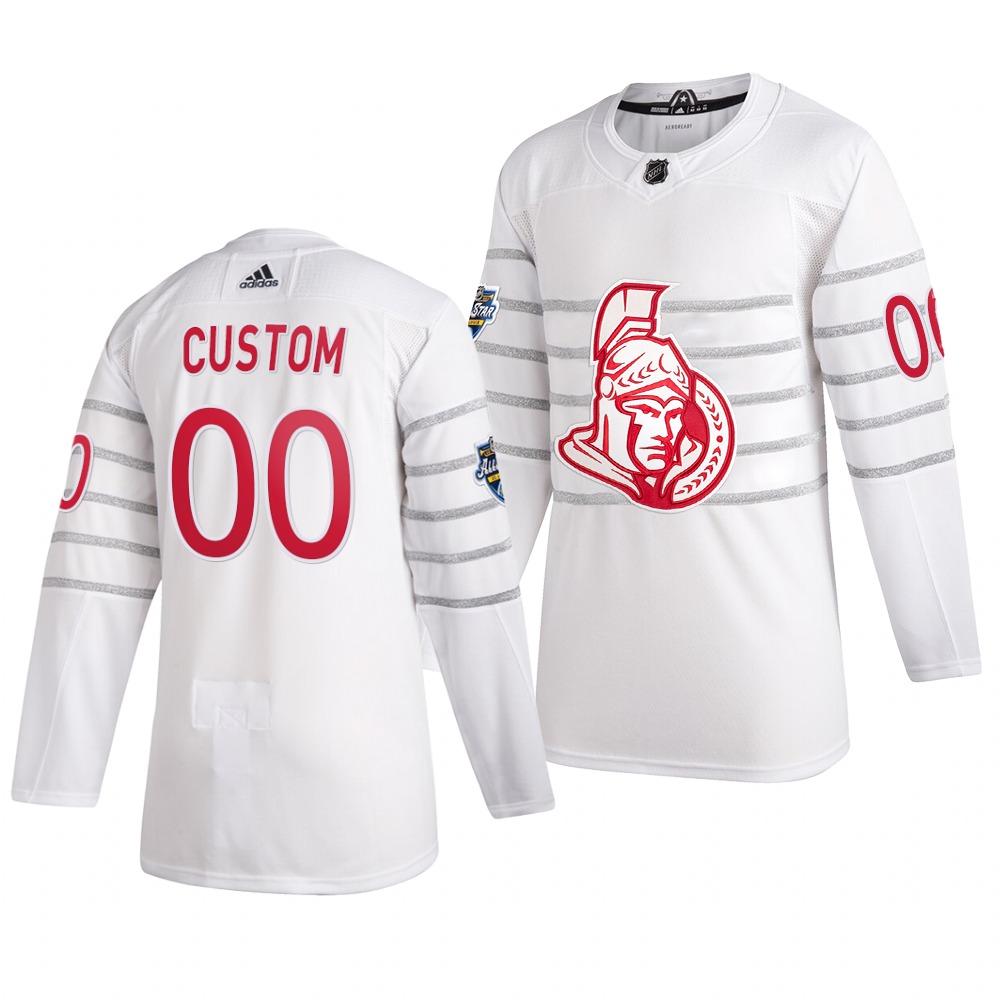 Men's 2020 NHL All-Star Game Ottawa Senators Custom Authentic adidas White Jersey