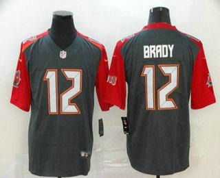 Men's Tampa Bay Buccaneers #12 Tom Brady 2020 Nike Pewter Inverted Legend Jersey