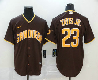Men's San Diego Padres #23 Fernando Tatis Jr. Brown Stitched MLB Cool Base Nike Jersey