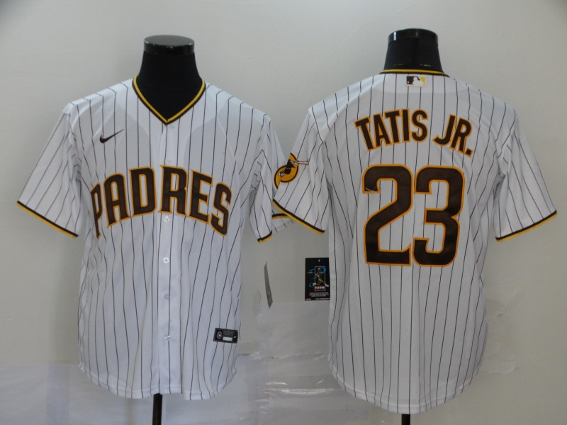 Men's San Diego Padres #23 Fernando Tatis Jr. White Stitched MLB Cool Base Nike Jersey