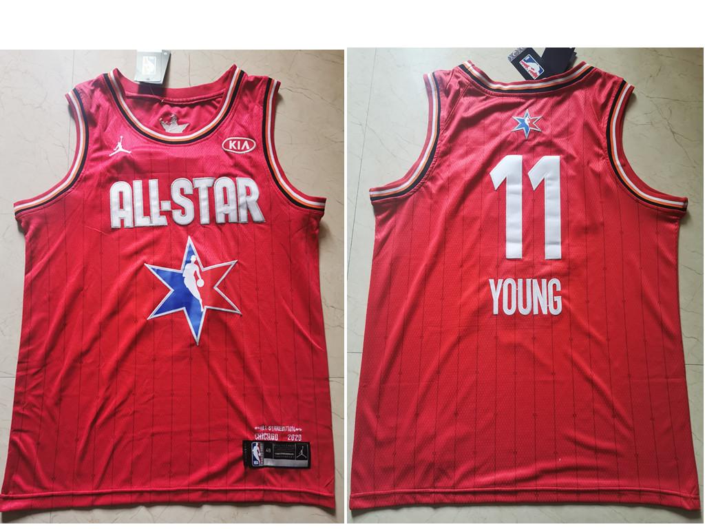 Men's Atlanta Hawks #11 Trae Young Red Jordan Brand 2020 All-Star Game Swingman Stitched NBA Jersey