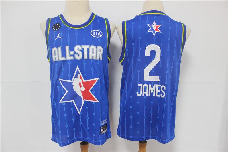 Men's Los Angeles Lakers #2 LeBron James Blue Jordan Brand 2020 All-Star Game Swingman Stitched NBA Jersey