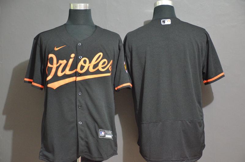 Men's Baltimore Orioles Blank Black Stitched MLB Flex Base Nike Jersey