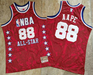 1988 All-Star AAPE x MITCHELL & NESS Red Jersey