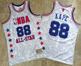 1988 All-Star AAPE x MITCHELL & NESS White Jersey