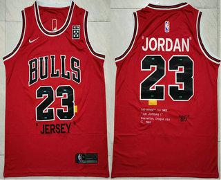 Men's Chicago Bulls #23 Michael Jordan Red 85 Anniversary Nike ...
