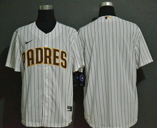 Men's San Diego Padres Blank White Stitched MLB Cool Base Nike Jersey