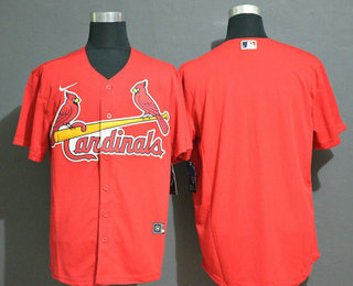Men's St. Louis Cardinals Blank Red Stitched MLB Cool Base Nike Jersey