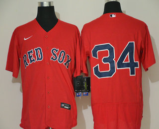 Men's Boston Red Sox #34 David Ortiz Red With No Name Stitched MLB Flex Base Nike Jersey
