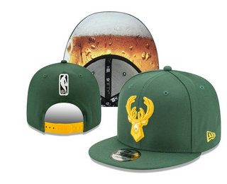 Milwaukee Bucks Snapback Ajustable Cap Hat YD 20-04-07-04