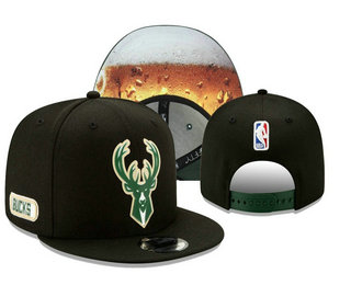 Milwaukee Bucks Snapback Ajustable Cap Hat YD 20-04-07-05
