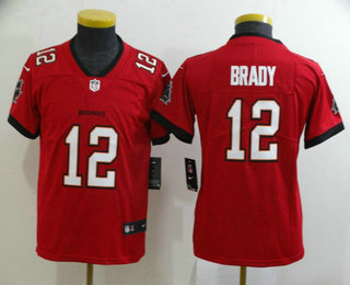 Youth Tampa Bay Buccaneers #12 Tom Brady Red 2020 NEW Vapor Untouchable Stitched NFL Nike Limited Jersey