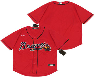 Men's Atlanta Braves Blank Red Stitched MLB Cool Base Nike Jersey