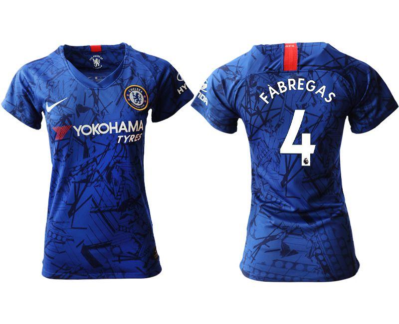 Women 2019-2020 club Chelsea home aaa version 4 blue Soccer Jerseys