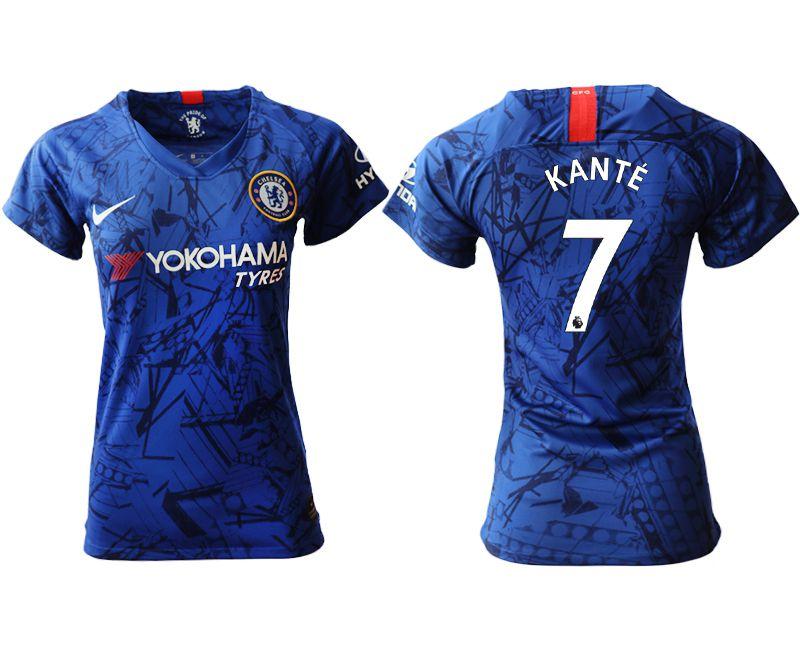 Women 2019-2020 club Chelsea home aaa version 7 blue Soccer Jerseys
