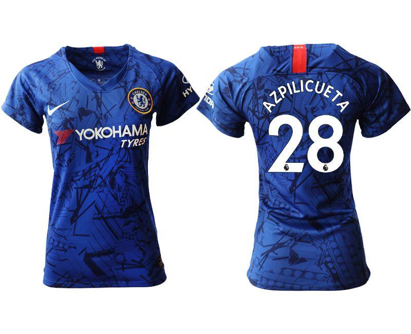 Women 2019-2020 club Chelsea home aaa version 28 blue Soccer Jerseys
