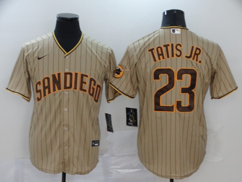 Men's San Diego Padres #23 Fernando Tatis Jr. Gray Stitched MLB Cool Base Nike Jersey