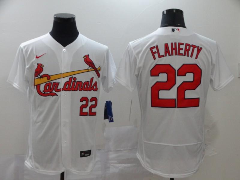 Men's St. Louis Cardinals #22 Jack Flaherty White Stitched MLB Flex Base Nike Jersey