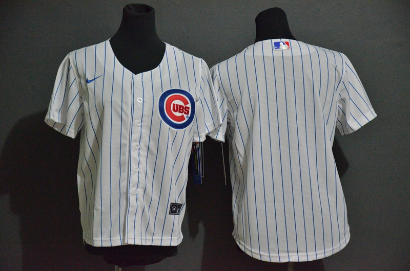 Youth Chicago Cubs Blank White Stitched MLB Cool Base Nike Jersey