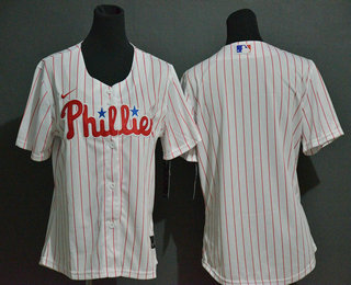 Women's Philadelphia Phillies Blank White Stitched MLB Cool Base Nike Jersey