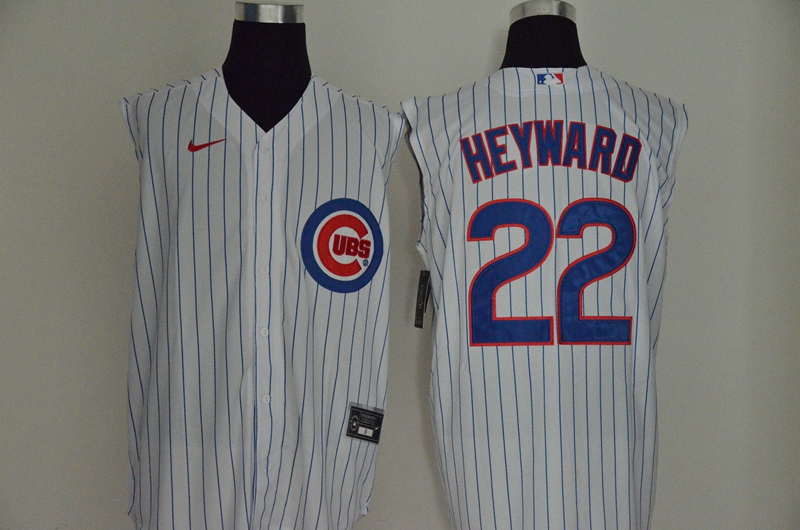 Men's Chicago Cubs #22 Jason Heyward White 2020 Cool and Refreshing Sleeveless Fan Stitched MLB Nike Jersey