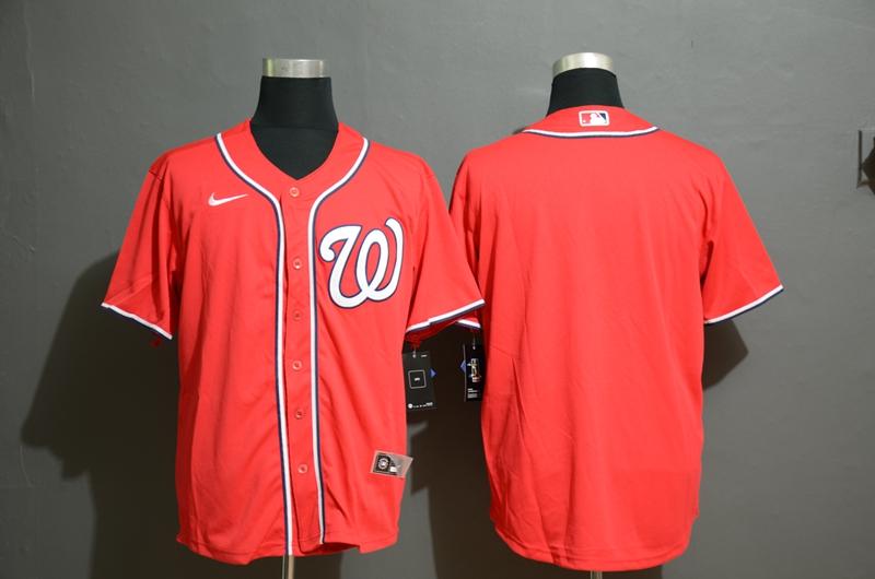 Men's Washington Nationals Blank Red Stitched MLB Cool Base Nike Jersey