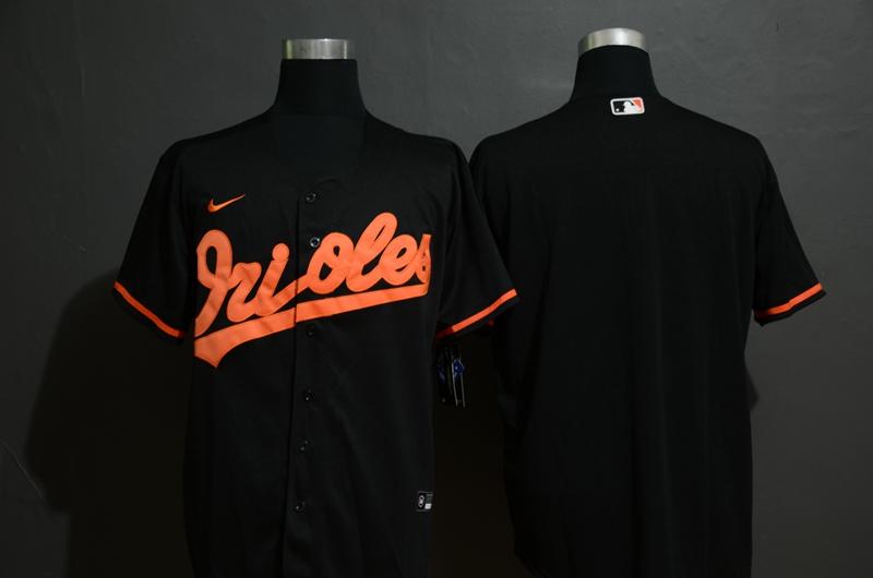 Men's Baltimore Orioles Blank Black Stitched MLB Cool Base Nike Jersey