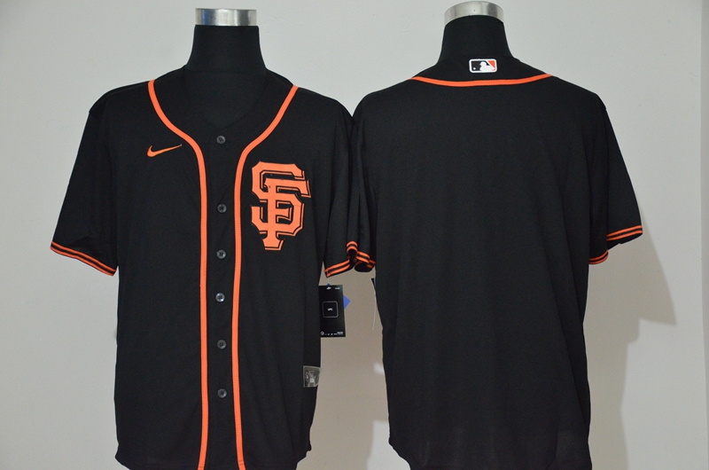 Men's San Francisco Giants Blank Black Stitched MLB Cool Base Nike Jersey