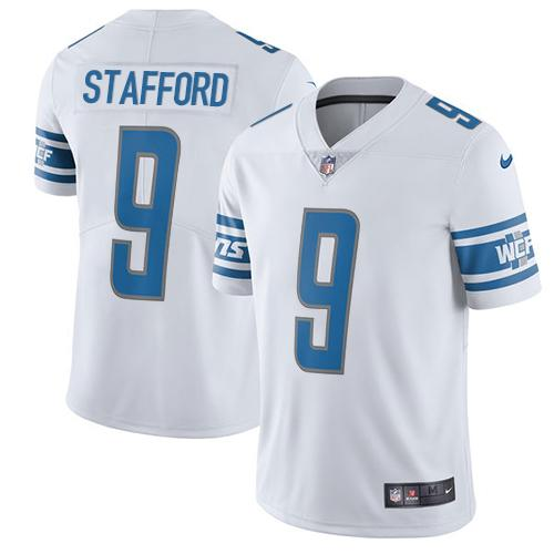 Youth Nike Detroit Lions #9 Matthew Stafford White Stitched NFL Vapor Untouchable Limited Jersey