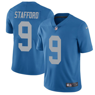 Youth Detroit Lions #9 Matthew Stafford Royal Blue Alternate 2017 Vapor Untouchable Stitched NFL Nike Limited Jersey