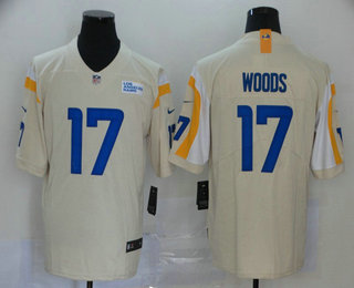 Men's Los Angeles Rams #17 Robert Woods Cream 2020 NEW Vapor Untouchable Stitched NFL Nike Limited Jersey
