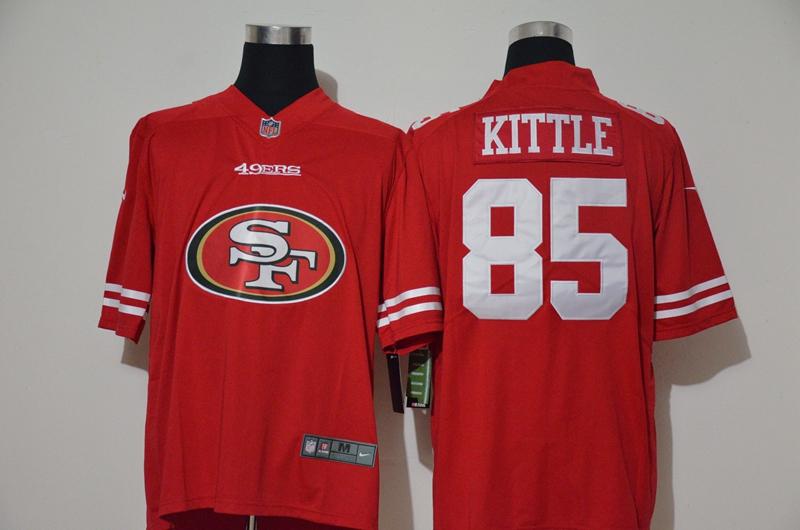 Men's San Francisco 49ers #85 George Kittle Red 2020 Big Logo Vapor Untouchable Stitched NFL Nike Fashion Limited Jersey