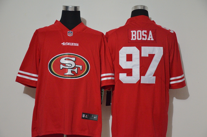 Men's San Francisco 49ers #97 Nick Bosa Red 2020 Big Logo Vapor Untouchable Stitched NFL Nike Fashion Limited Jersey