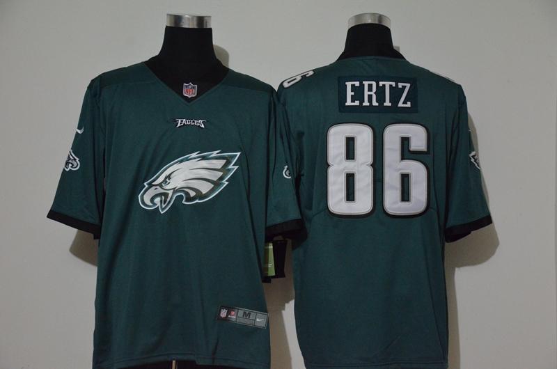 Men's Philadelphia Eagles #86 Zach Ertz Midnight Green 2020 Big Logo Vapor Untouchable Stitched NFL Nike Fashion Limited Jersey