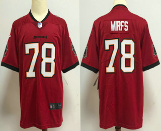 Men's Tampa Bay Buccaneers #78 Tristan Wirfs Red 2020 NEW Vapor Untouchable Stitched NFL Nike Limited Jersey