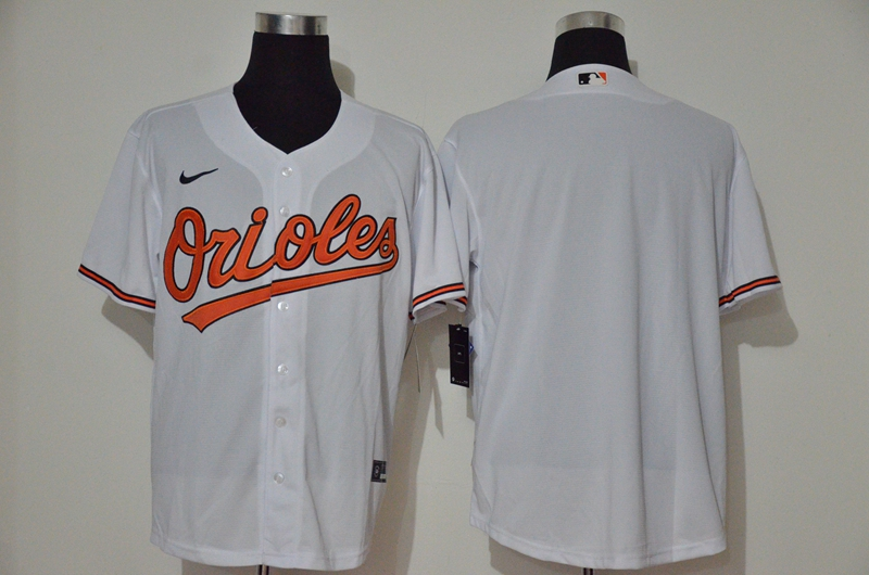 Men's Baltimore Orioles Blank White Stitched MLB Cool Base Nike Jersey