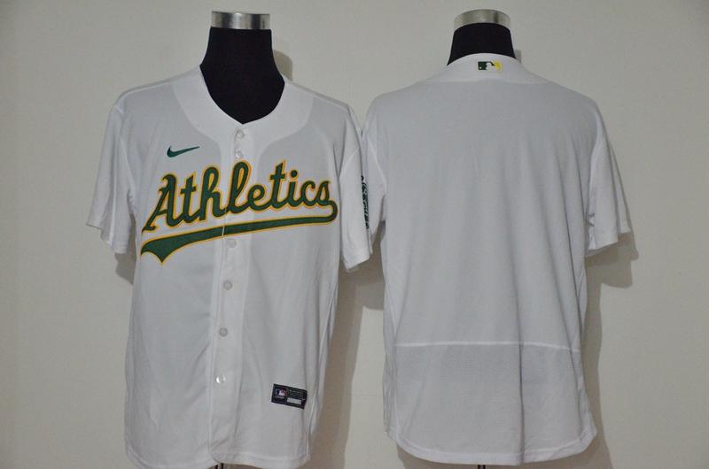 Men's Oakland Athletics Blank White Stitched Stitched MLB Flex Base Nike Jersey